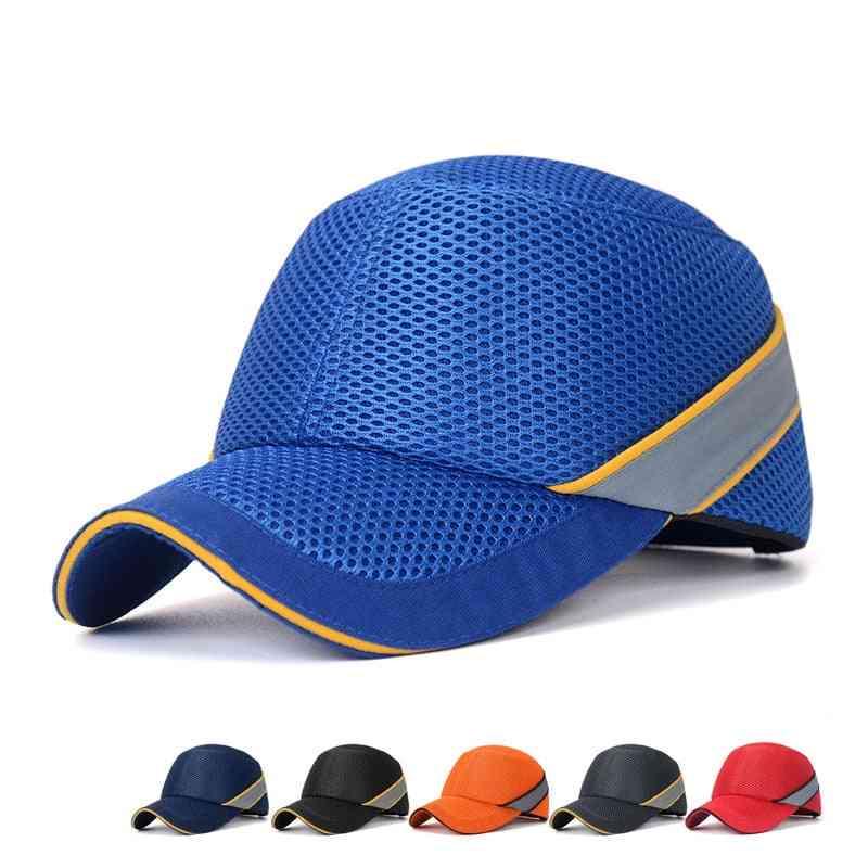 Work Safety Bump Cap Baseball Hat Style Net Cloth Hi-viz Anti-collision Hard Hat Helmet