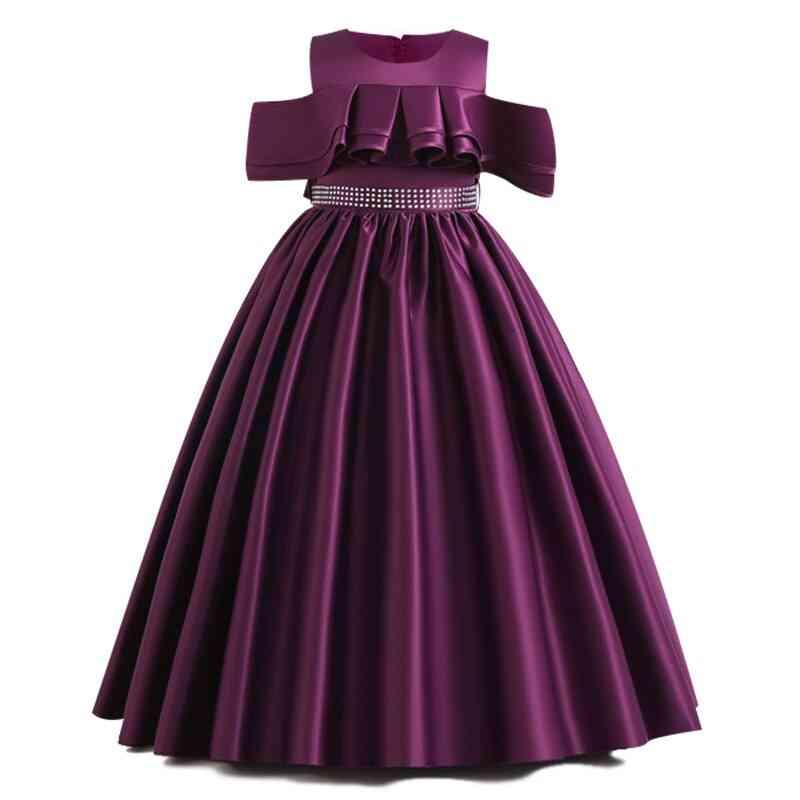 Pageant Party Lace Petal, Long Banquet Gown For Set-3