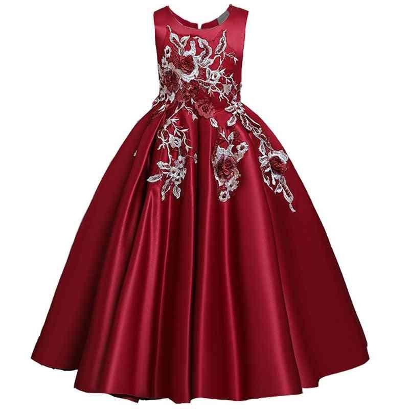 Pageant Party Lace Petal, Long Banquet Gown Dress For Set-7