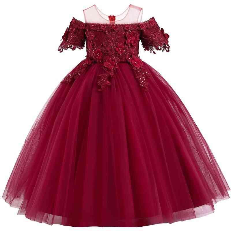 Pageant Lace Petal, Long Banquet, Gown Dresses For Wedding Party Set-14