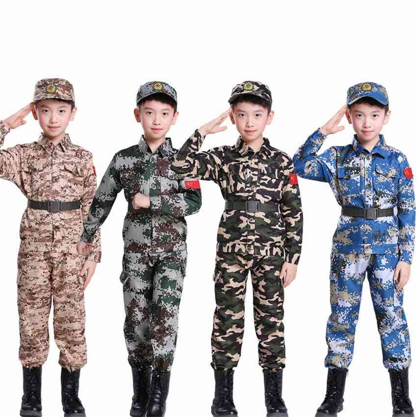 Military Training Uniformss Combat Tactical Camouflage Summer Camp Party/army Suits