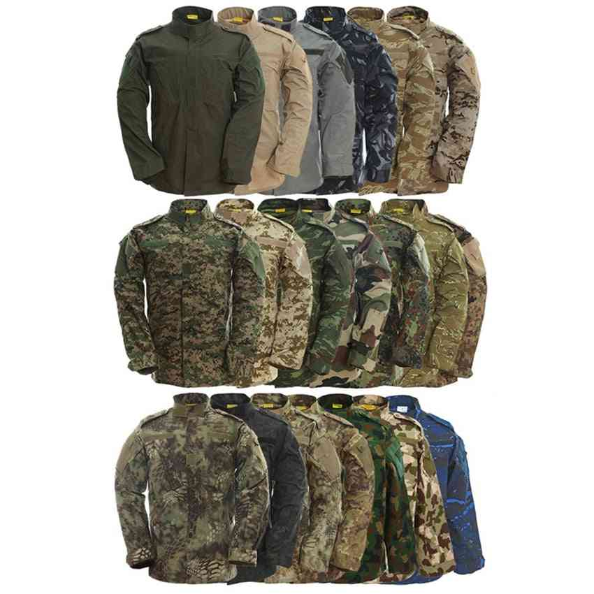 Camouflage Army Special Forces Military Uniform/combat Shirt Work Wear And Tactical Clothes Pant Set