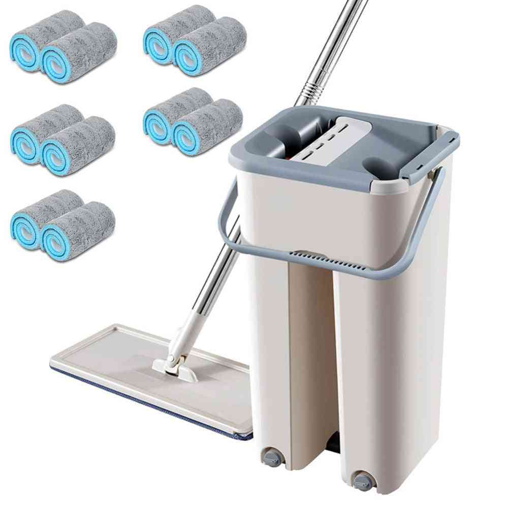 Free Hand Spin Cleaning, Microfiber Mop For Home Kitchen, Floor Clean Tools