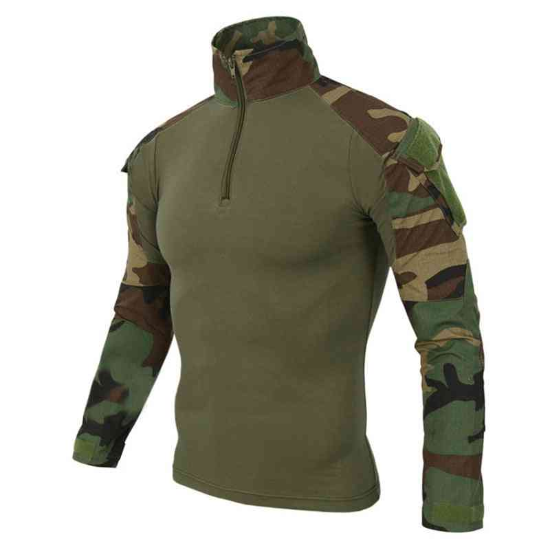 Camouflage Colors Us Army Combat Uniform Military Shirt Cargo Multicam Airsoft Paintball Tactical Cloth With Elbow Pads