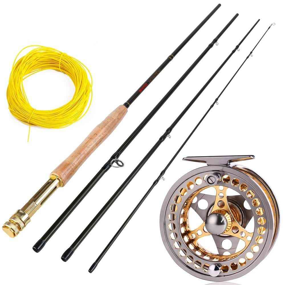 Portable Fly Rod And Cnc-machine Aluminum Alloy Fly Reel Kit