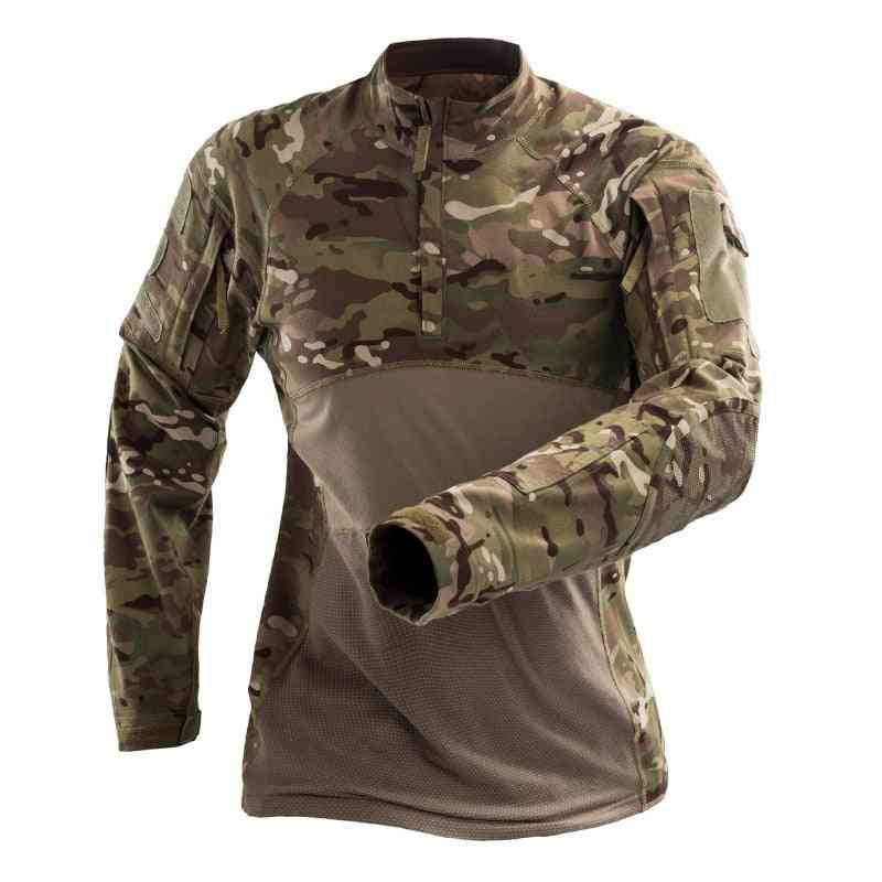 Military Camouflage Tactical T Shirt/long Sleeve Brand Cotton Breathable Combat Frog Shirt Men Training Shirts S-3xl Af112