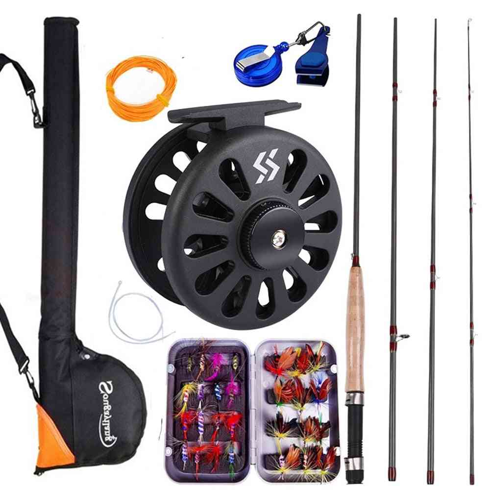Fly Rod And Reel With Fishing Bag, Line Accessories, Lures Box