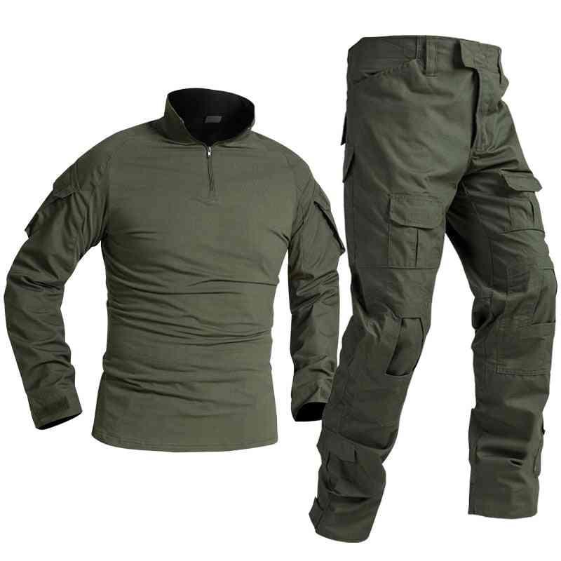 Tactical Military Uniform Special Forces Soldier Suit Militaire Tactics Paintball Clothing Men Combat Shirt Pants No Pads
