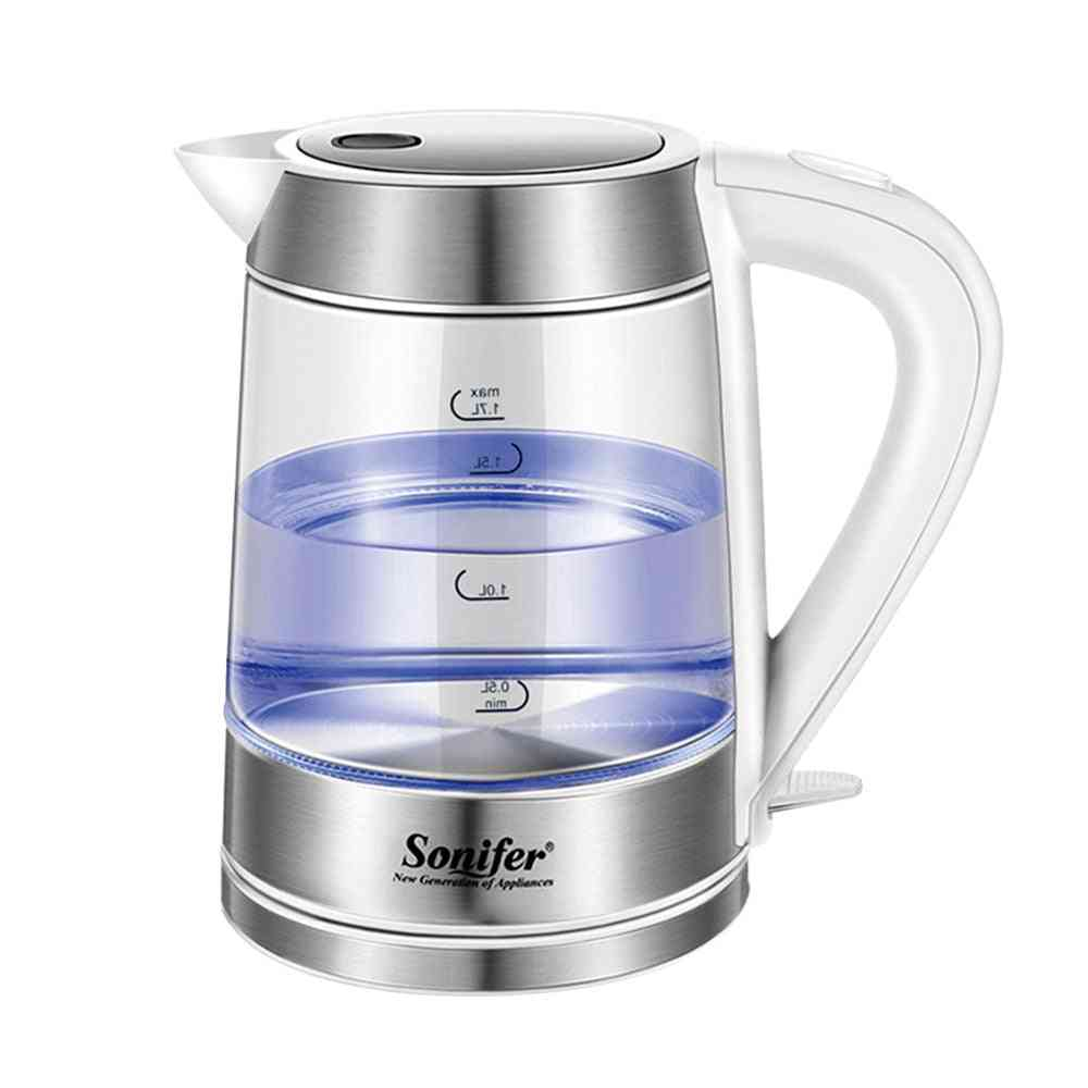 Electric Kettle Led Light Glass Smart Whistle Heating Boiling