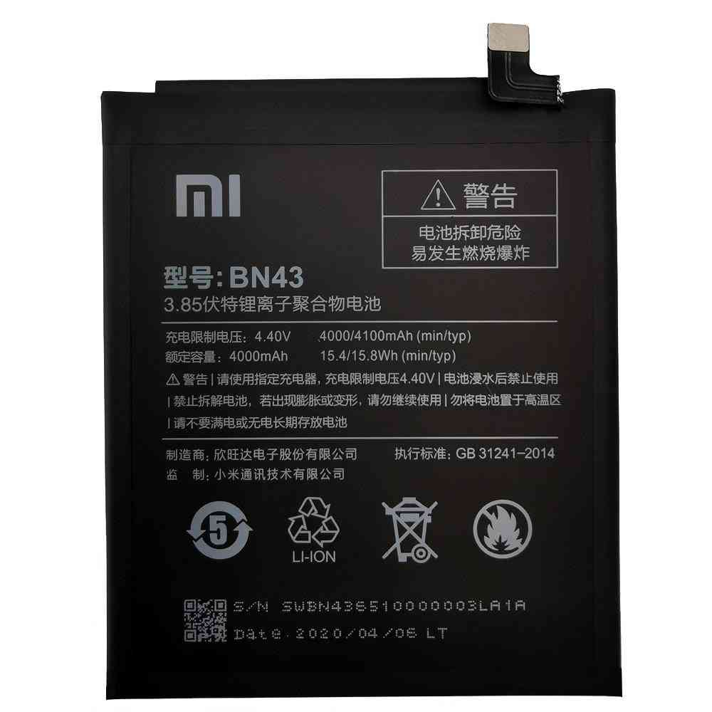 Original Xiaomi Replacement Battery For Xiaomi Mi Redmi Note