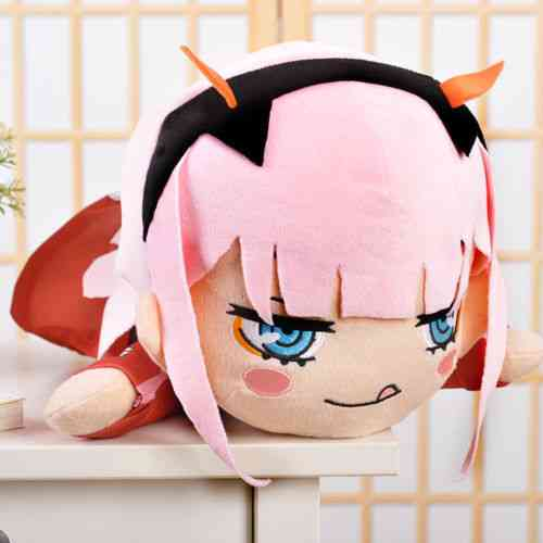 Anime Darling In The Zero Two 02 Plush Doll Toy & Figure Cushion Pillow Soft Cotton Stuffed