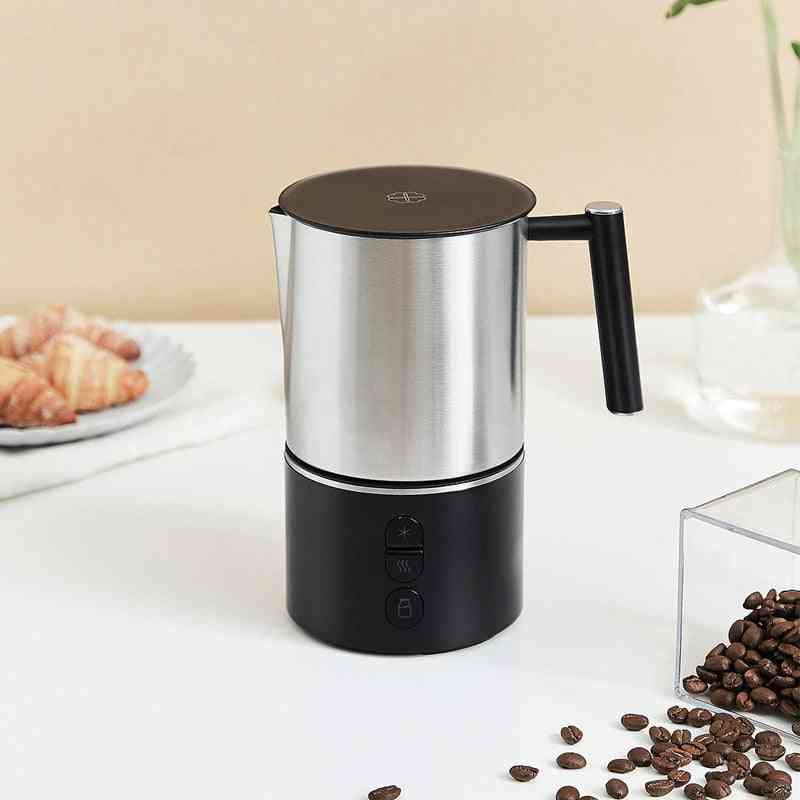 Automatic Milk Frother, Electric Steamer, Cappuccino, Hot /cold Coffee, Stainless Steel, Dishwasher Safe
