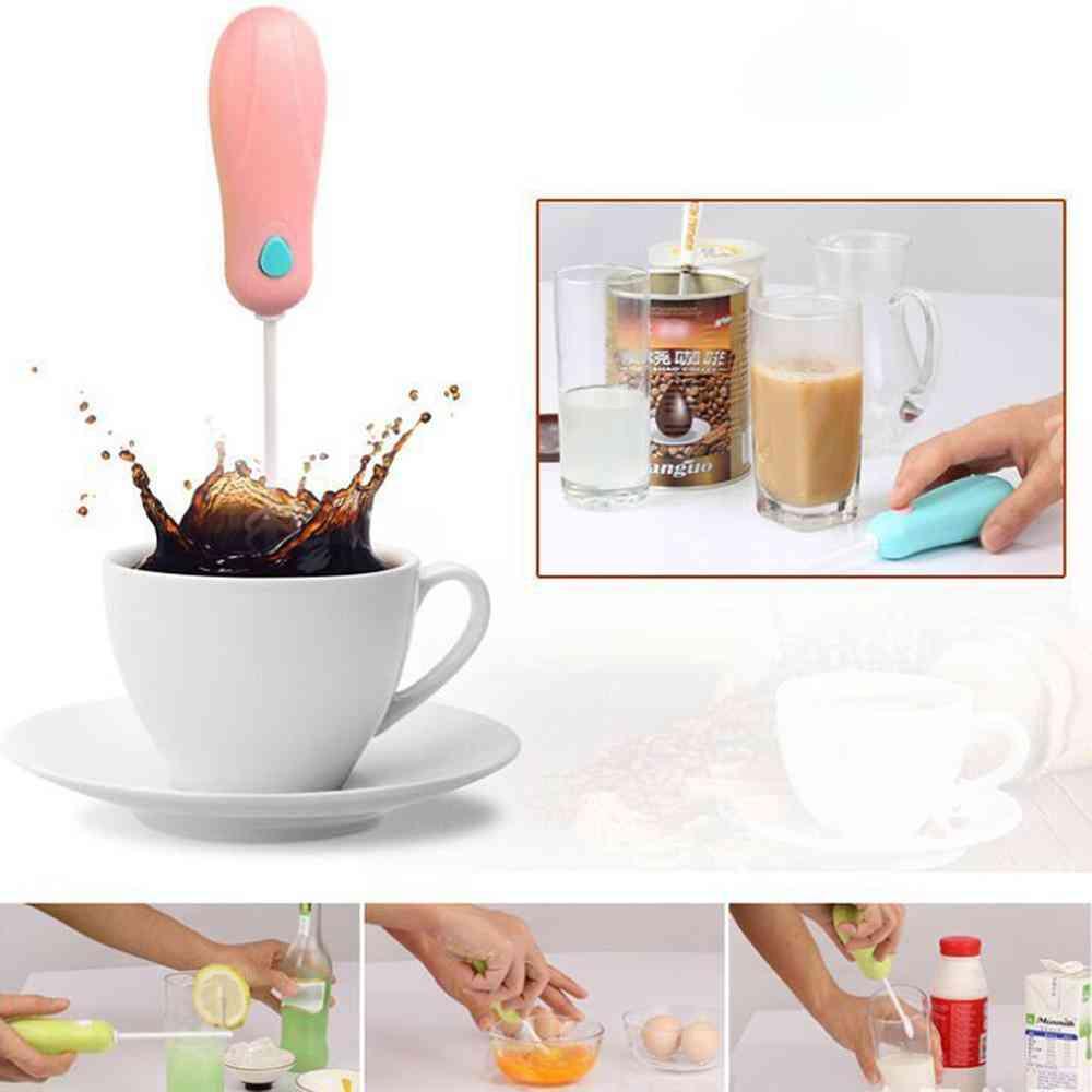 Kitchen Electric Hand Whisk, Mini Portable, Mixer Coffee, Milk Egg Beater, Plastic Blender