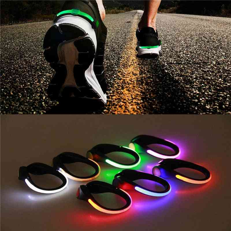 Led Luminous Shoe Clip Light Outdoor Running Cycling Bicycle Rgb Novelty Night Lamp