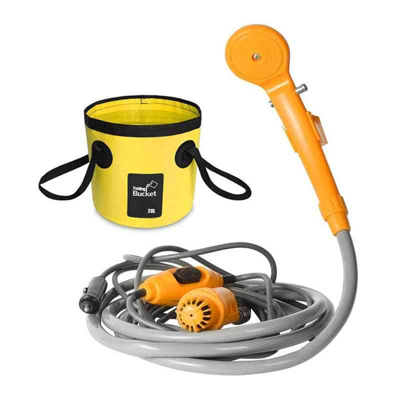 Portable Car Washer, Camping Shower, High Pressure Set, Electric Pump Sprayer For Outdoor Camping Travel Pet