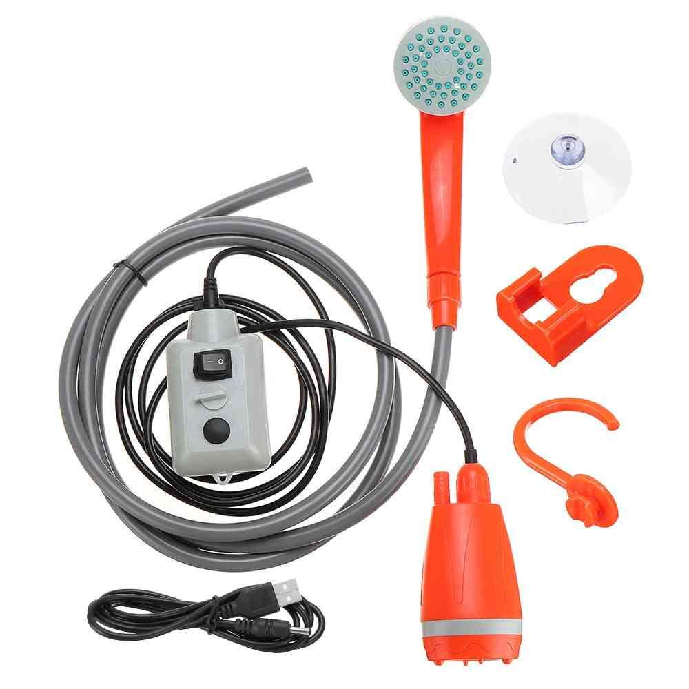 Portable Car Washer, Camping Shower, High Pressure, Washer Water Gun, Electric Pump, Outdoor Travel Take Set