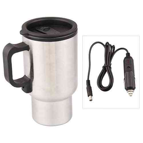 Stainless Stee Car Thermo Cup, Electric Heater For Coffee, Tea, Travel Mug, Thermol Bottle