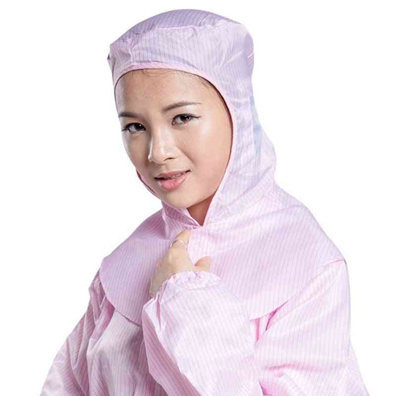 Anti-static Striped Dust-proof Work Cape / Head Cover Painting /electronics/ Food Factory Hat Cleanroom Lab Protective Hat