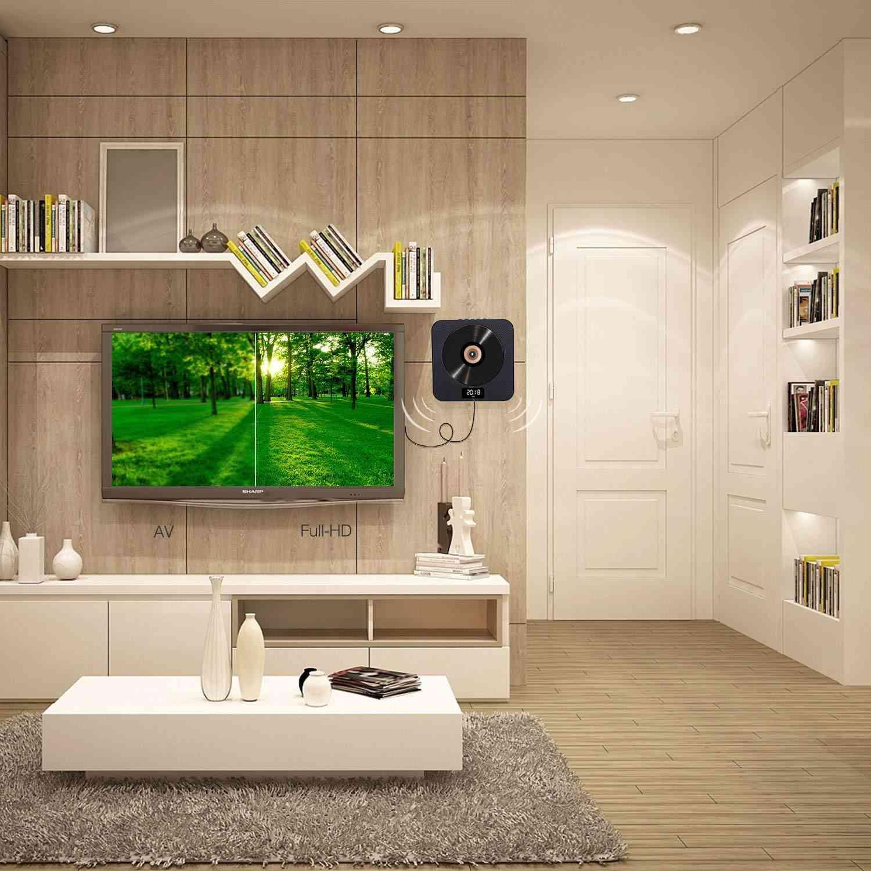 Protable Wallmount Hdmi Vedio Bluetooth Cd, Dvd & Music Player Built-in Speaker Fm Radio