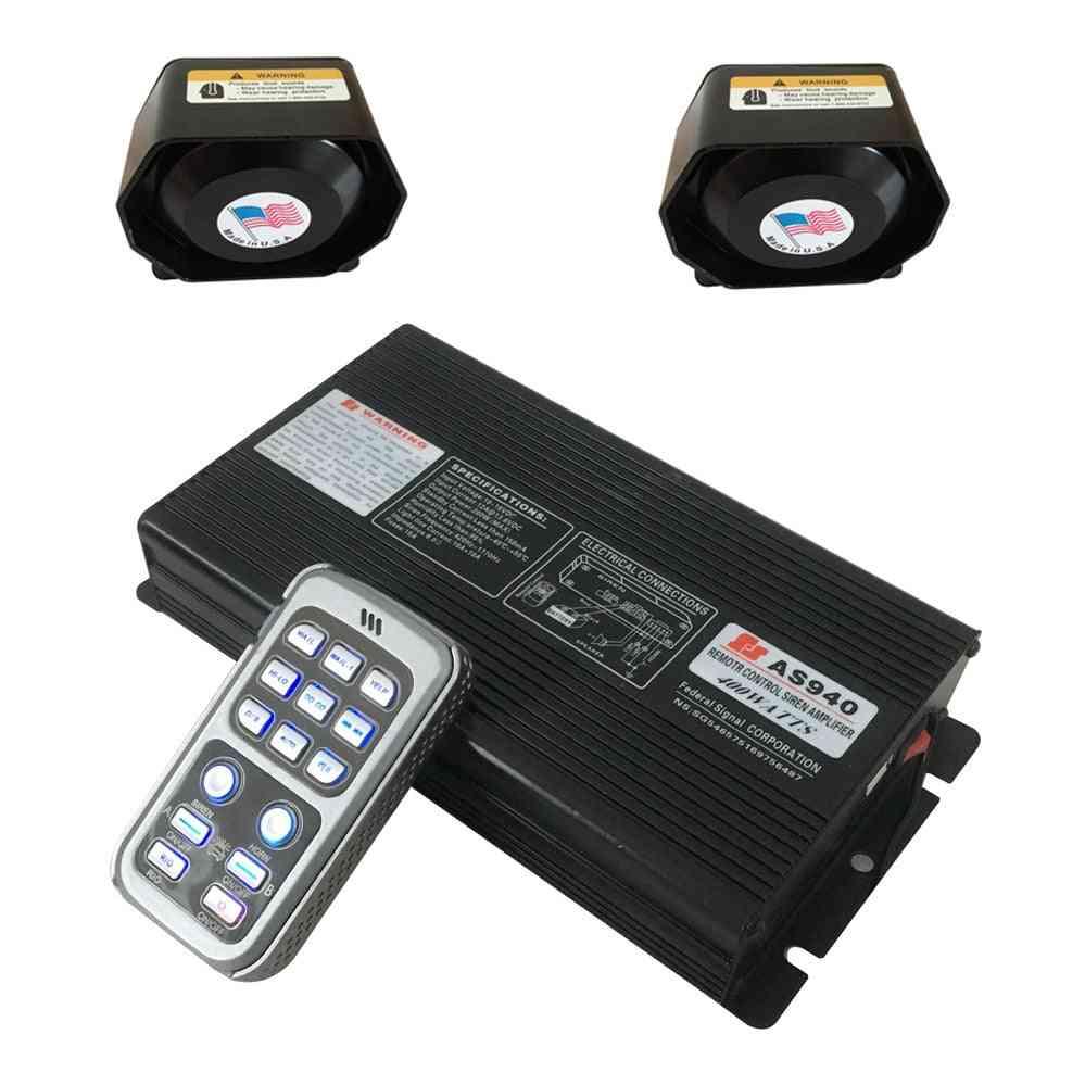 400w Car Wireless Siren Speaker Amplifier