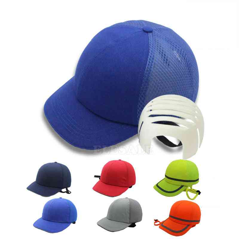 Summer Work Safety Hi-viz Bump Cap &  Hat Style Protective Hard  For Work Carrying Head Protection