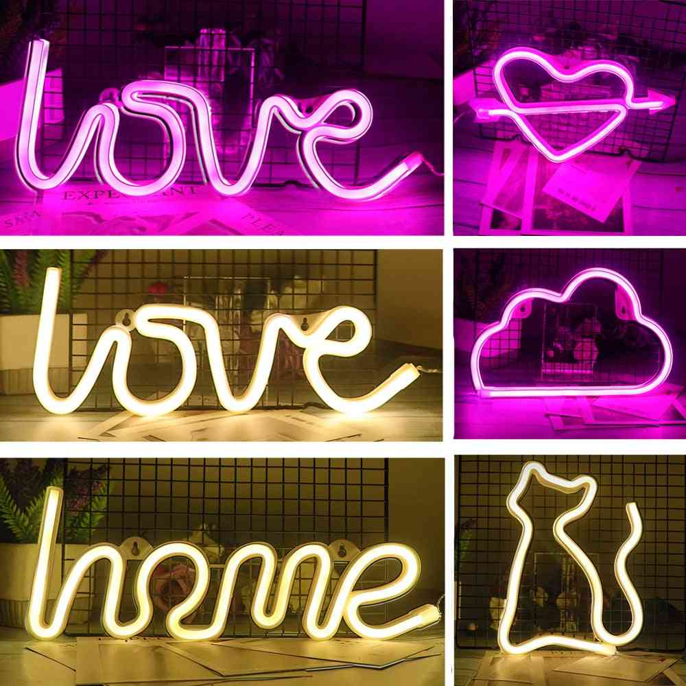 Creative Led Neon Light Sign Love Heart Wedding Party Decoration Neon Lamp