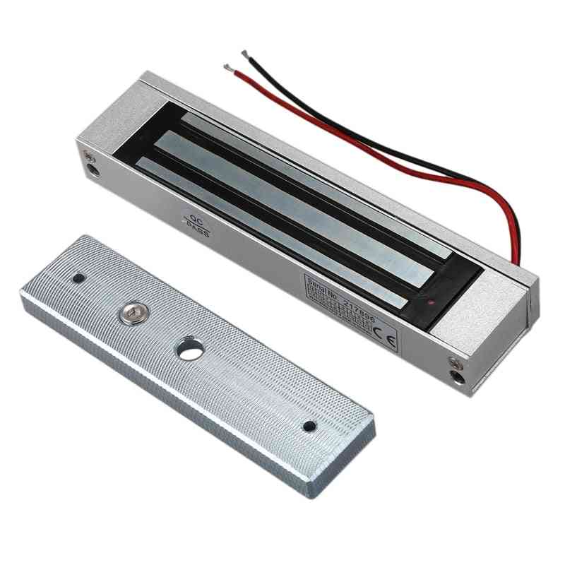 New-single Door 12v Electric Magnetic Electromagnetic Lock 180kg (350lb) Holding Force For Access Control Silver (silver)