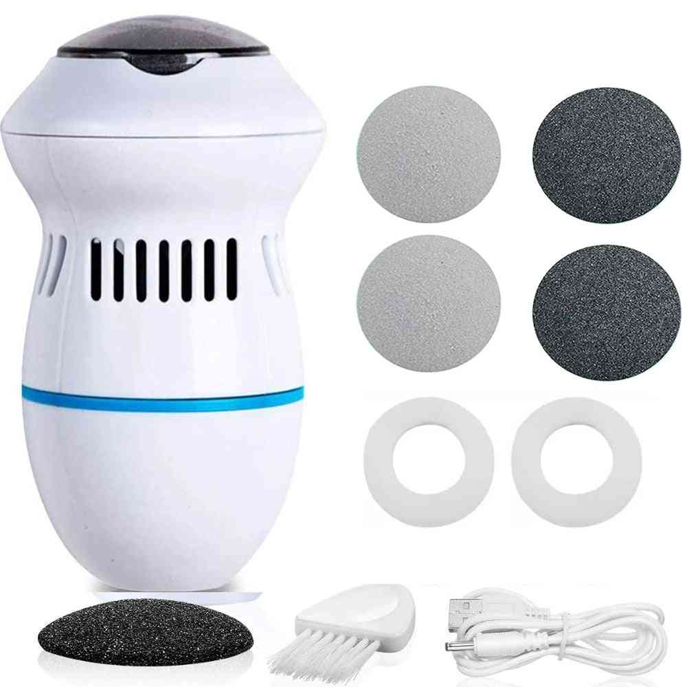 Portable Electric Vacuum Adsorption Foot Grinder, Electronic Foot File Pedicure Tools, Callus Remover Feet Care Sander