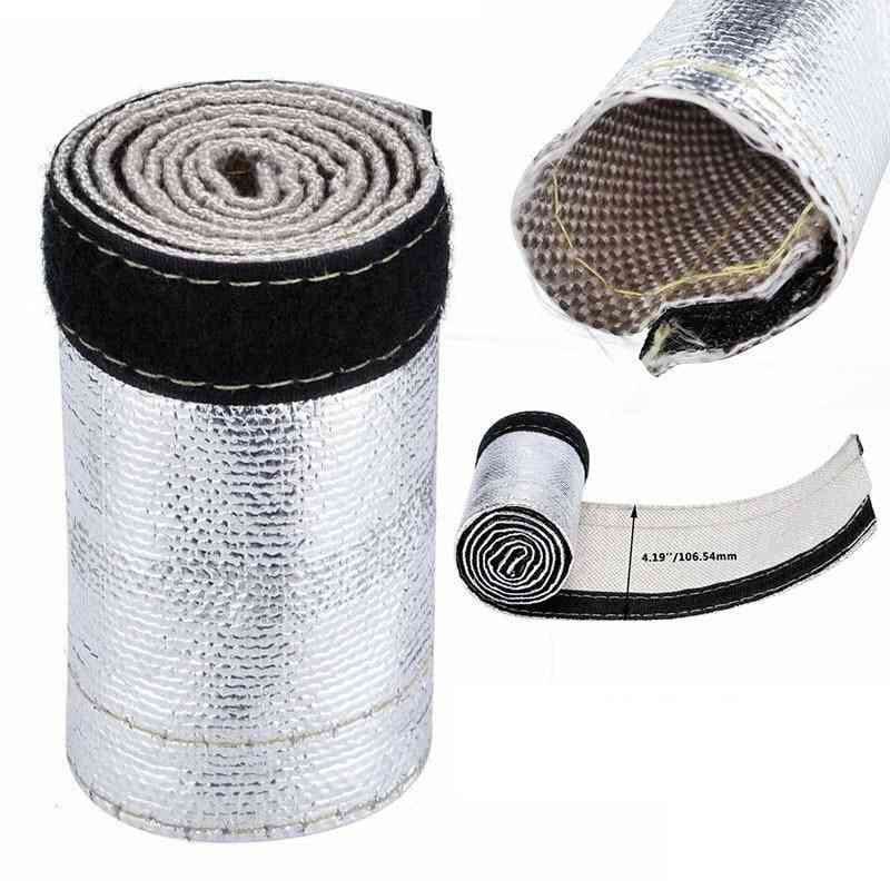 Metallic Heat Shield Sleeve Insulated Wire Hose Cover Wrap Loom Tube