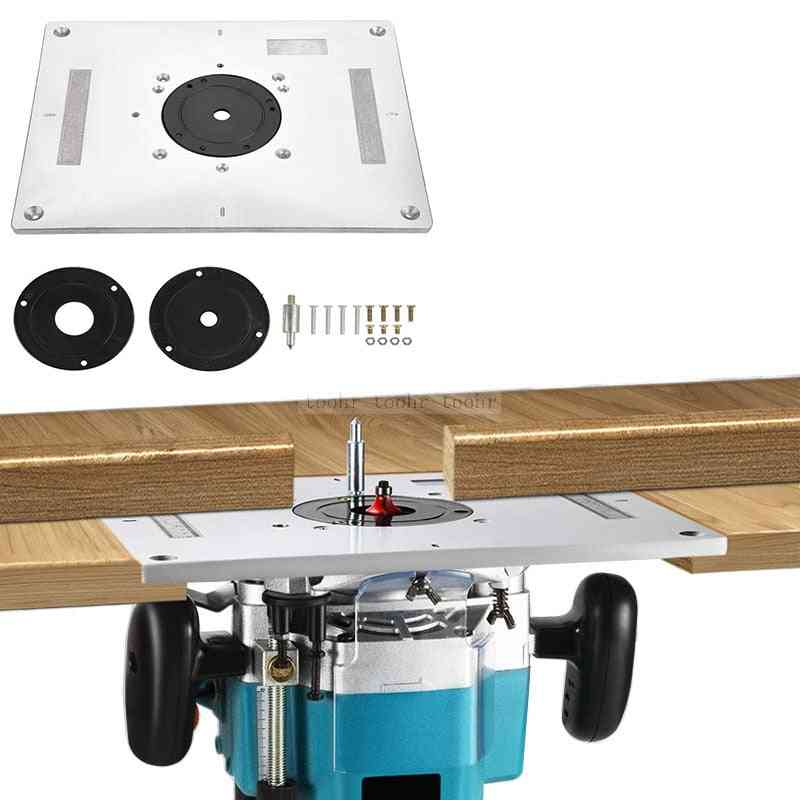 Electric Wood Milling Trimming Machine, Flip Plate Guide Router Table, Woodworking Work Bench