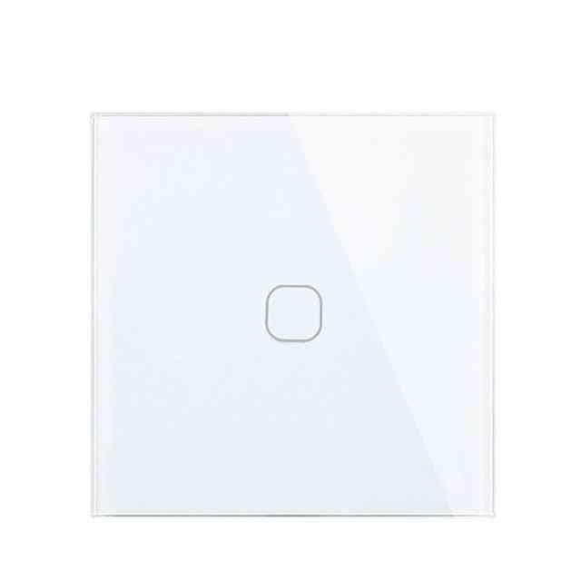 Mini Tiger Eu Standard Luxury White Crystal Glass Switch Wall Light Touch Switch