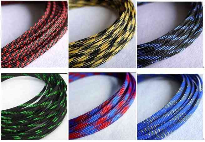 Flat Pet Snakeskin Sleeves, Braided Expandable Cable Wire