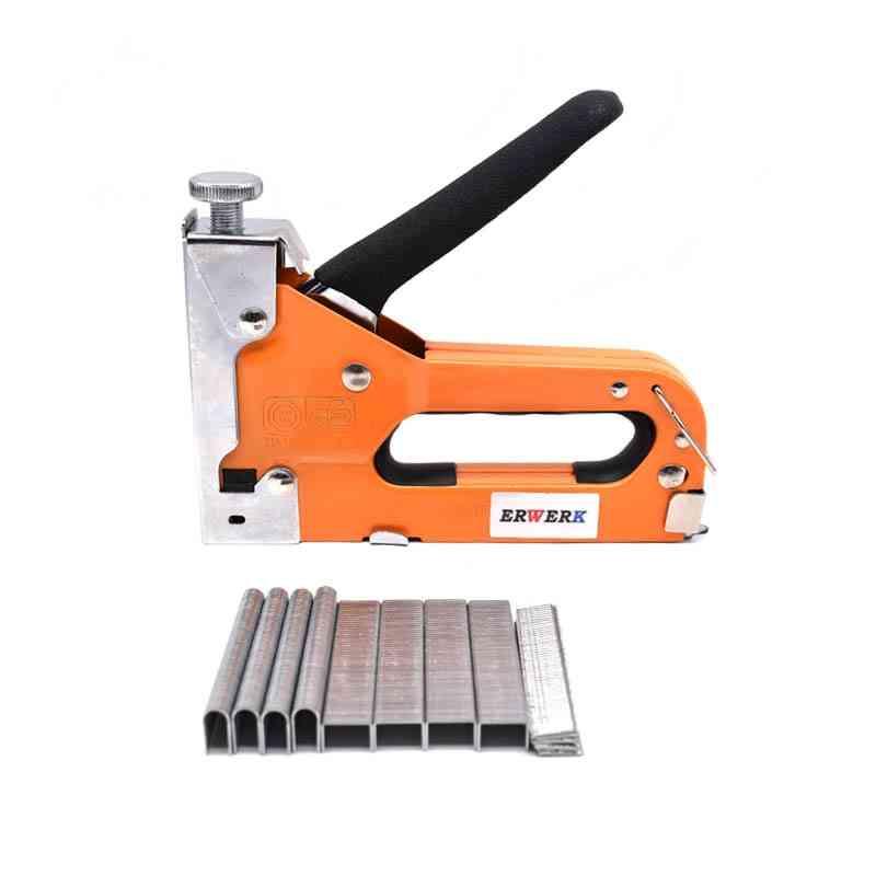 3 In 1 Manual Nail Stapler Gun For Furniture Household Hand Tool