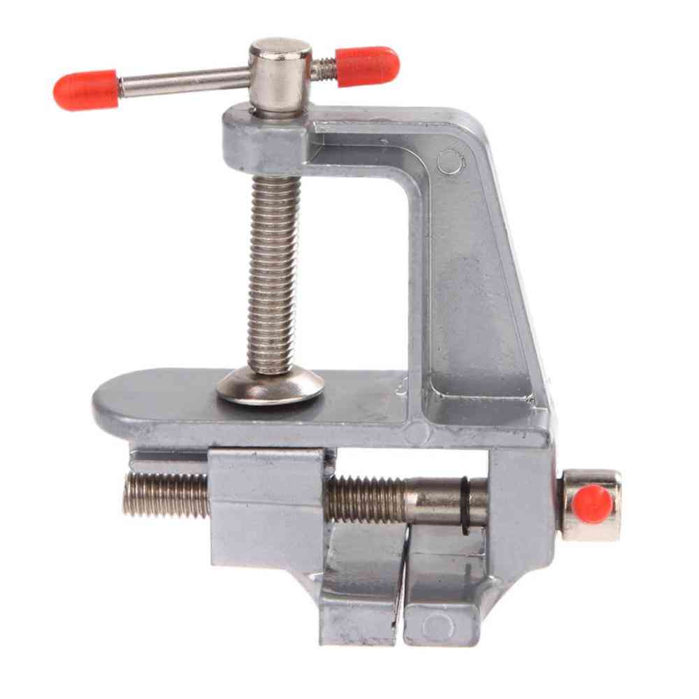 Mini Aluminum, Table Vice Bench Clamp, Screw Vise For Electric Drill