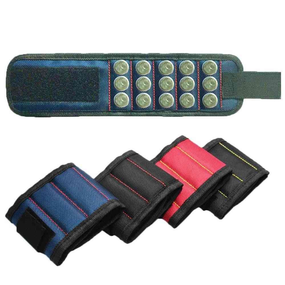 Magnetic Wristband Bracelet, Holder Storage Bag, Repair Tool
