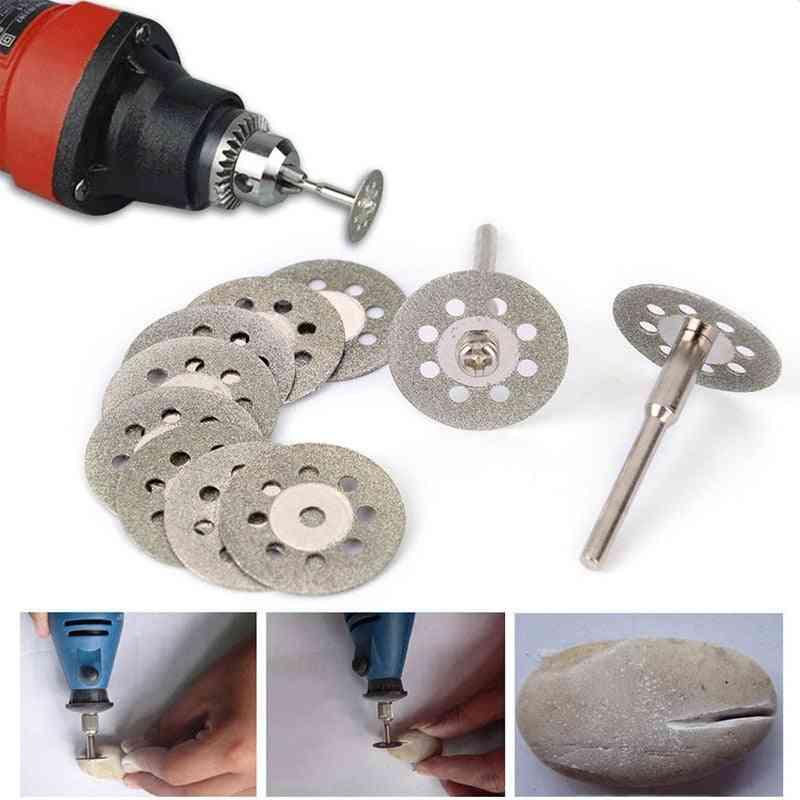 Circular Saw Blades Cutting Wheel Discs Mandrels Set Rotary Tool