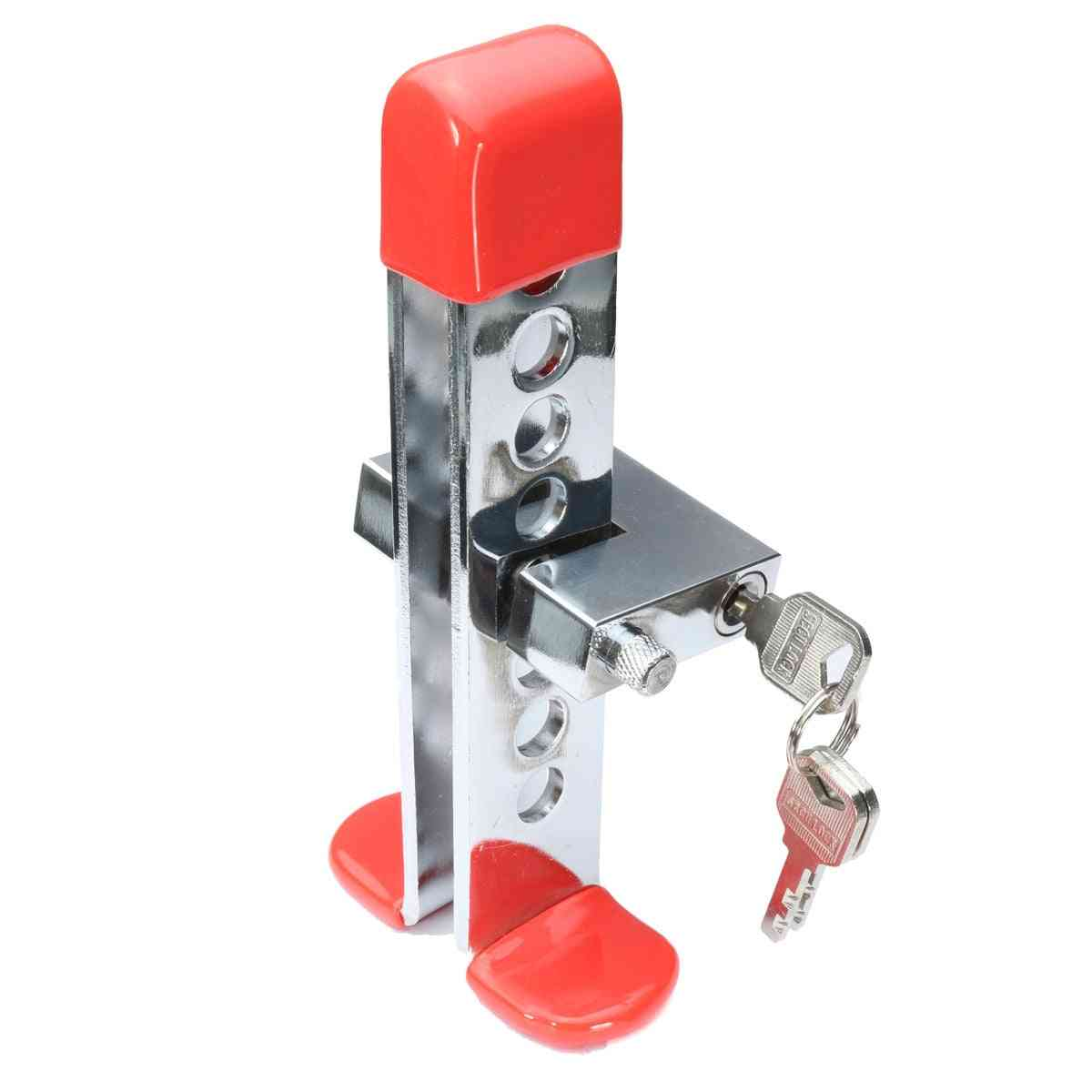 Steel Anti-theft Brake & Clutch Throttle Lever, Security Lock For Car
