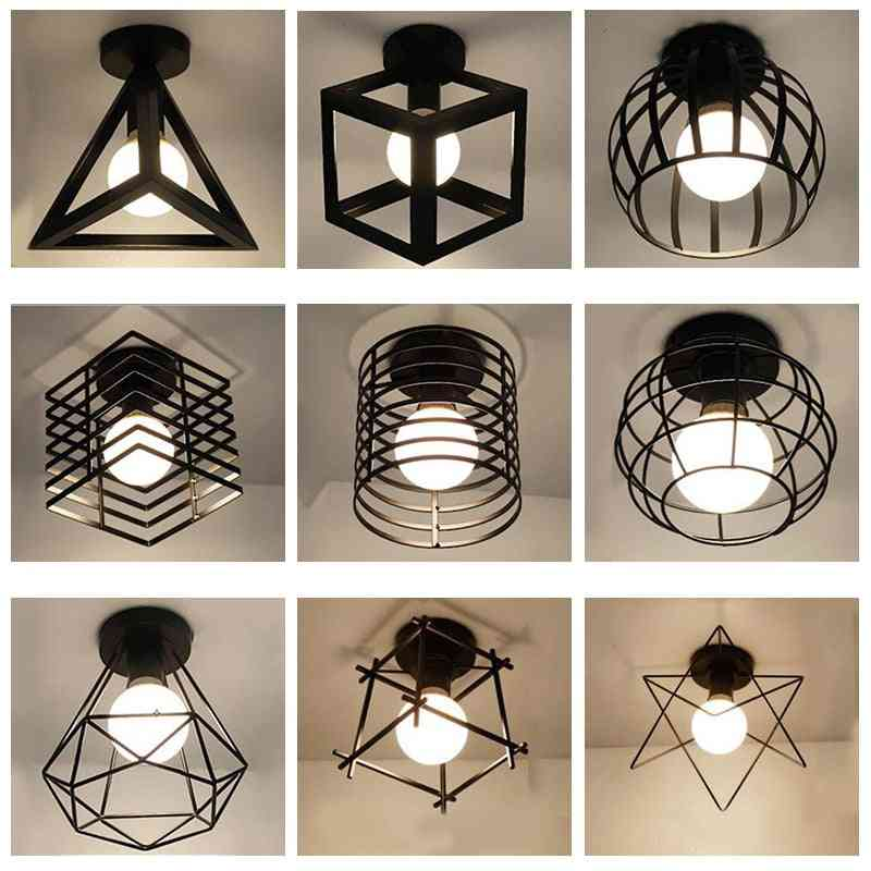 Modern Nordic Wrought Iron Led Ceiling Lamps For Kitchen, Living Room, Bedroom, Study, Balcony