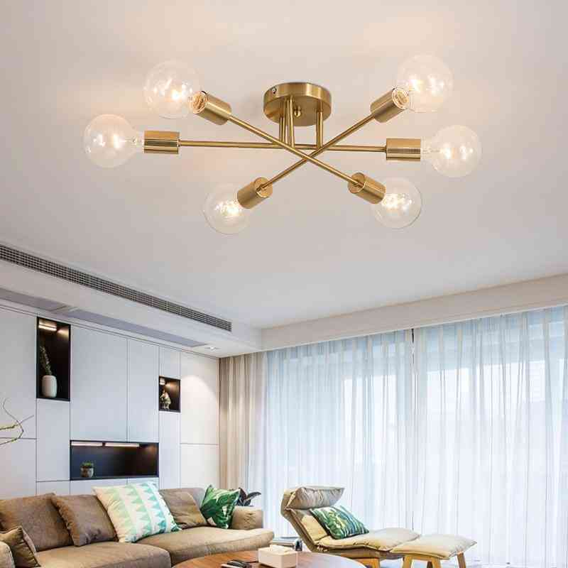 Modern Chandelier Sputnik Lamps Semi-embedded Ceiling Lamp For Home Decoration