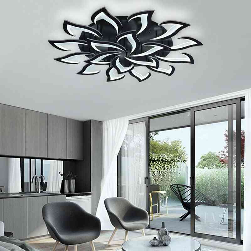 Led Remote Control, Flower Design-ceiling Chandelier Lamp