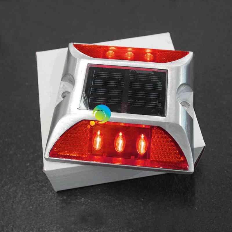 Solar Power Led Road Safety Square Design, Warning Light
