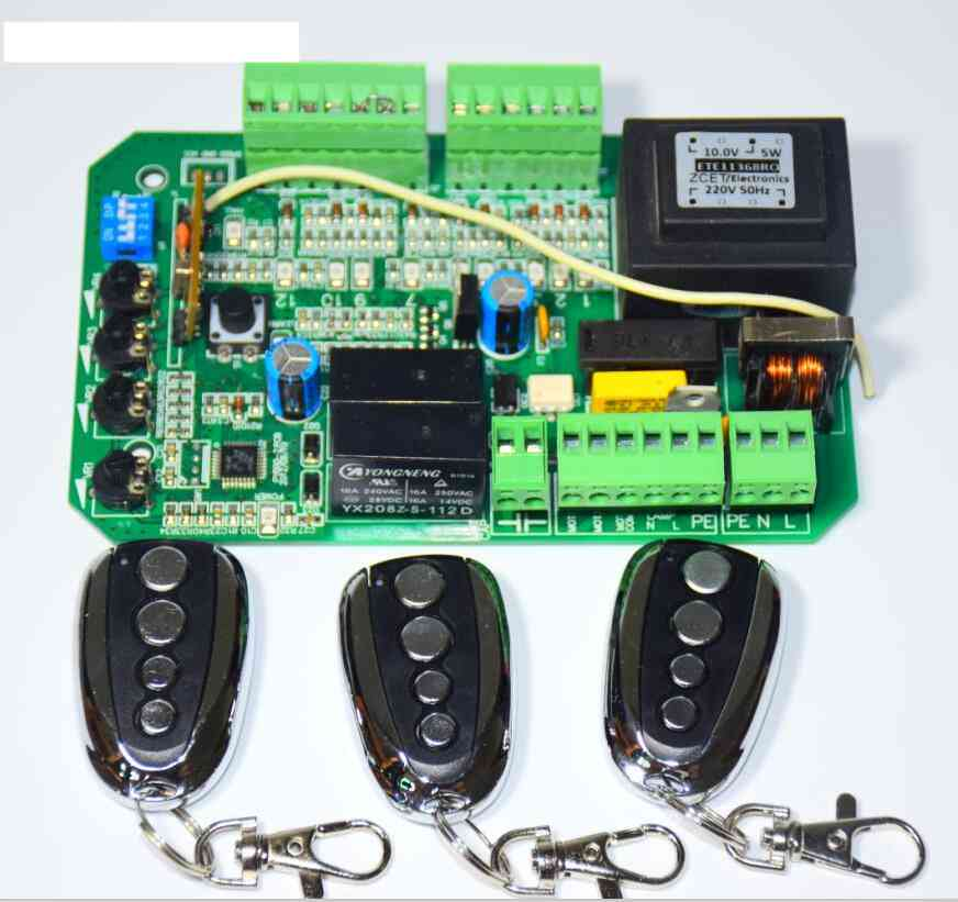 Remote Controls Of Sliding Gate Opener Motor Pcb Circuit Board Controller Card