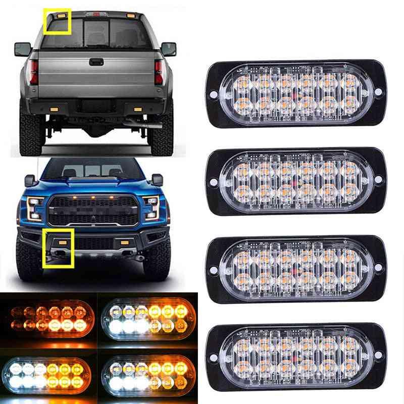 Car Warning Strobe Light, 12 Led Emergency Bar Flashing Lamp