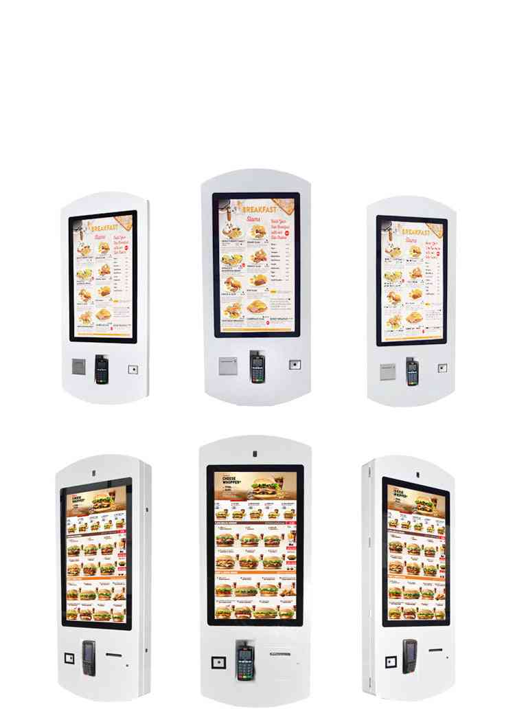 Lcd Touch Screen Restaurant Wifi Self Service Fast Food Ordering