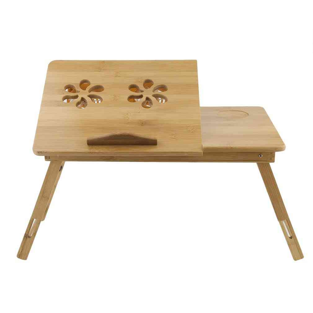 Foldable Portable Bamboo Computer Stand Laptop Desk