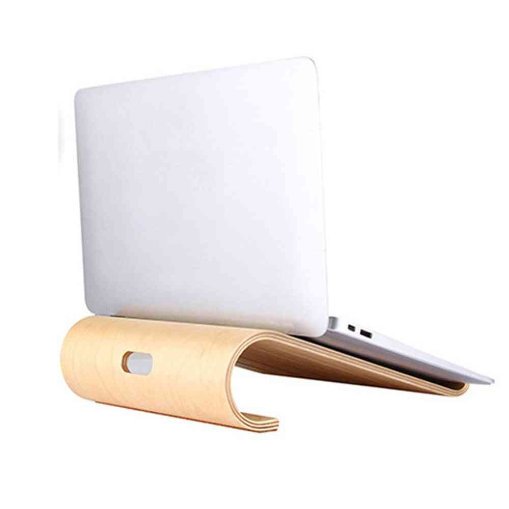 Wooden Notebook Holder Hollow Cooling Fashion Computer Stand
