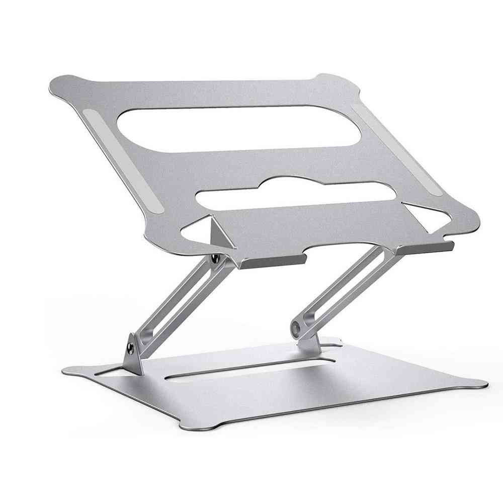 Aluminum Alloy- Foldable Adjustable, Heat Cooling Bracket For Laptop Computer