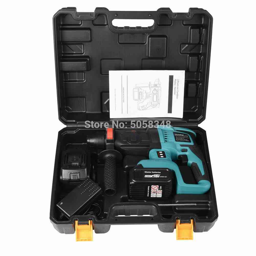 Rechargeable Brushless, Cordless Rotary Hammer, Drill Electric