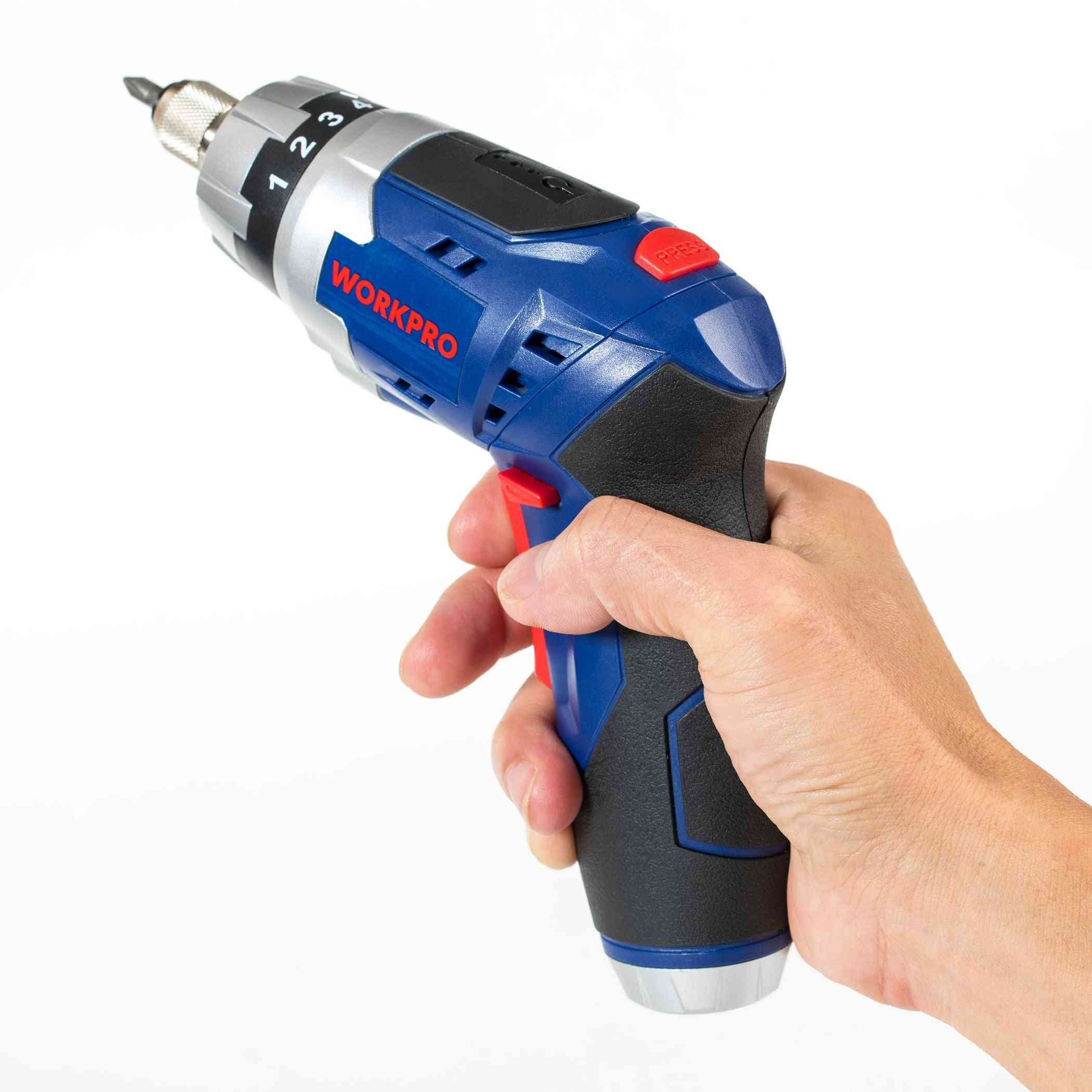 Foldable, Electric, Rechargeable, Screwdrivers With Work Light