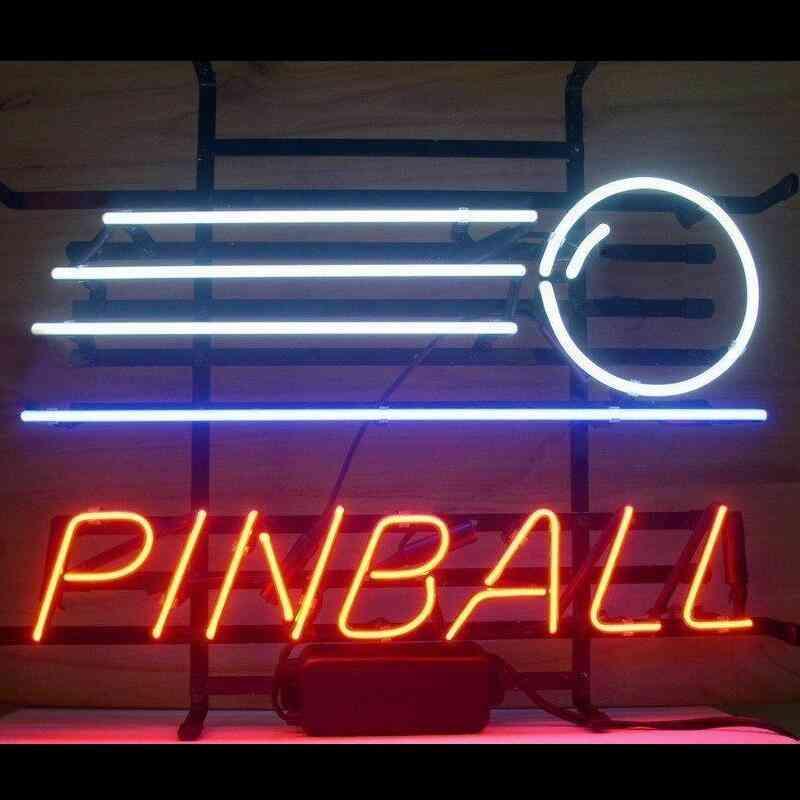 Pinball Glass Neon Light Sign Beer Bar